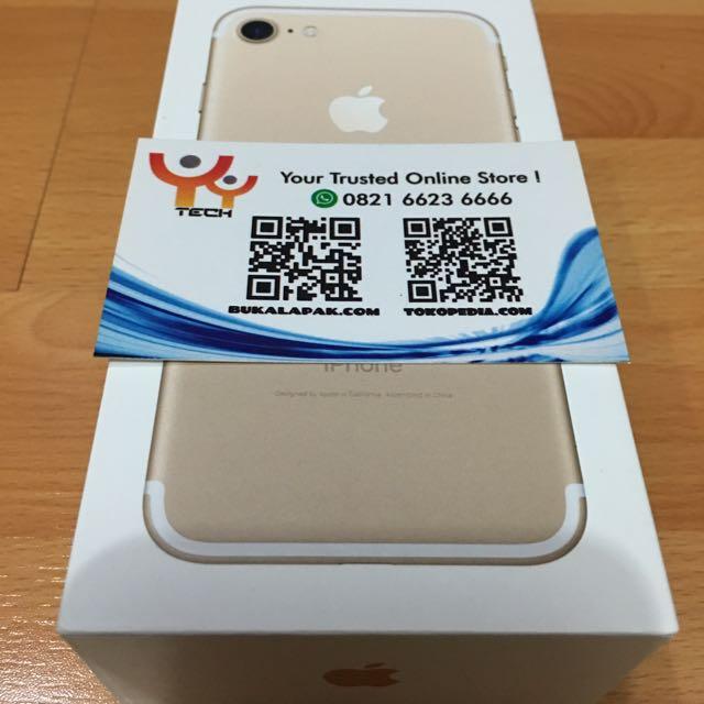 Iphone 7 128GB GOLD BNIB Grnsi 1 Tahun International