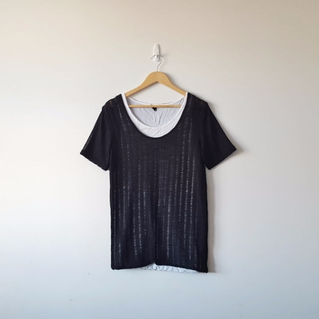Japanese Brand Vertical Stripe T-shirt