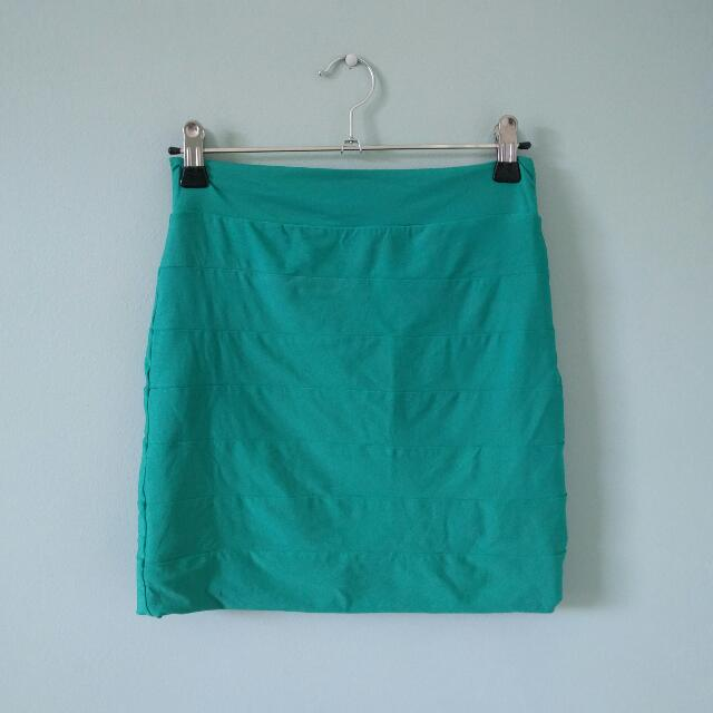 Kookai teal skirt
