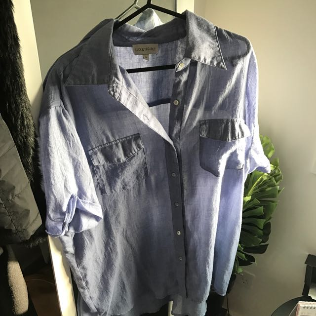 Luck And Trouble Oversized Shirt