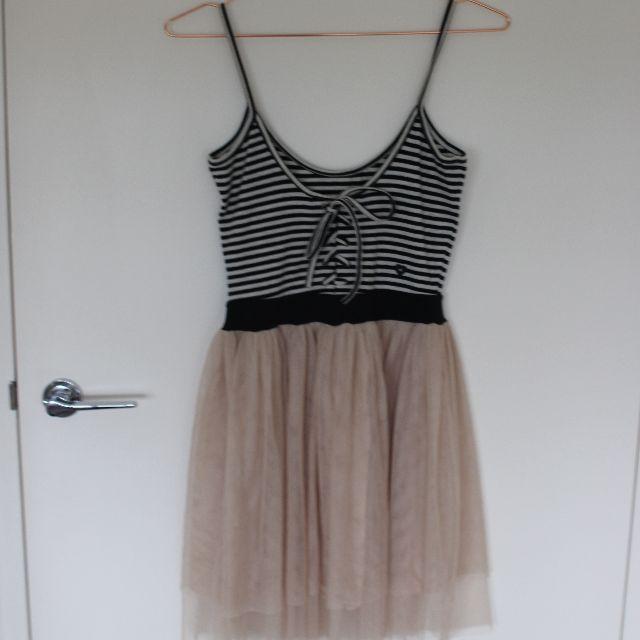 Milk & Honey chiffon skirt ballerina dress