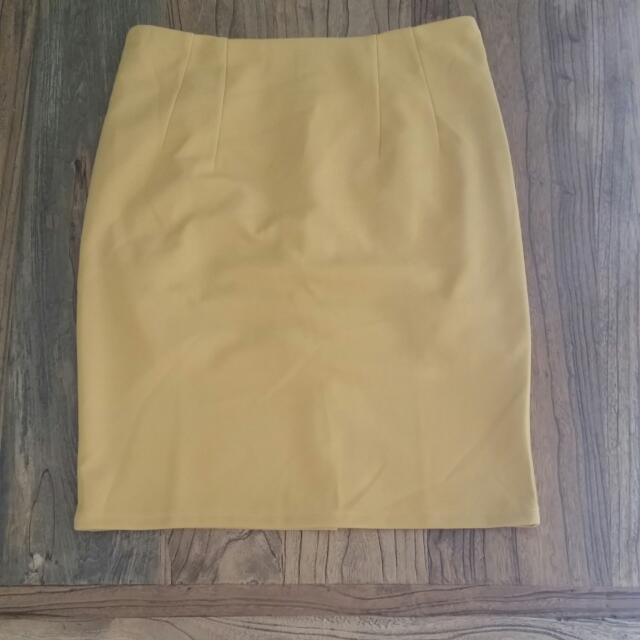 Mustard Suit Skirt Size 8-10