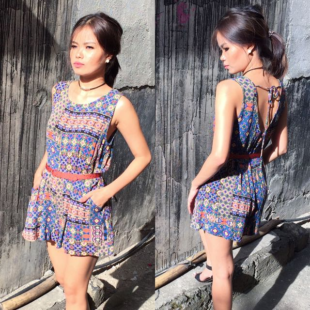 New Look Printed Romper