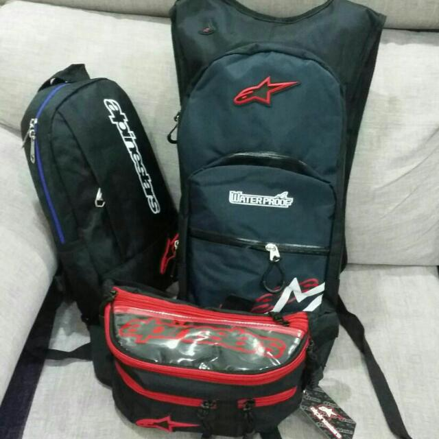 Nike n Alpinestars backpack set. ba62a4887a132