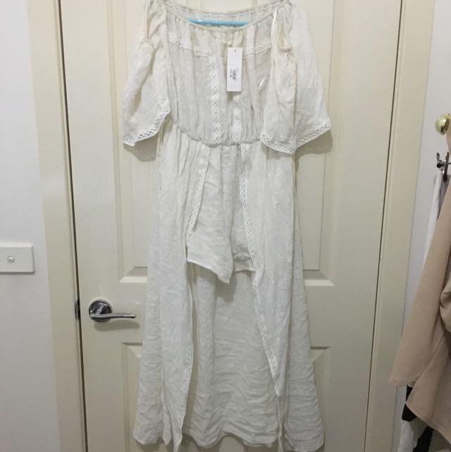 Off The Shoulder Bohoo Jumpsuit/dress