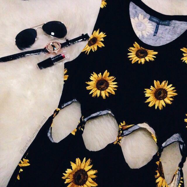 Pacsun Sunflower Dress