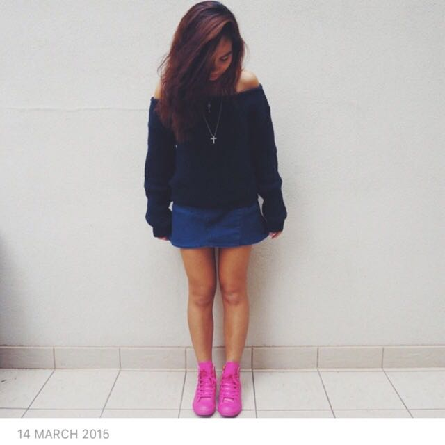 Pink Rubber Converse