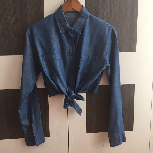 Preloved Crop Shirt Gaudi