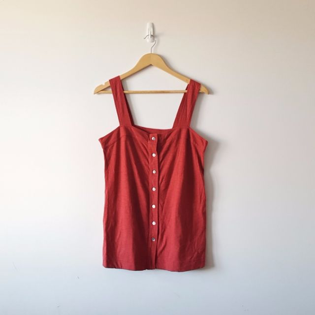 Red Pinafore Dress/Singlet