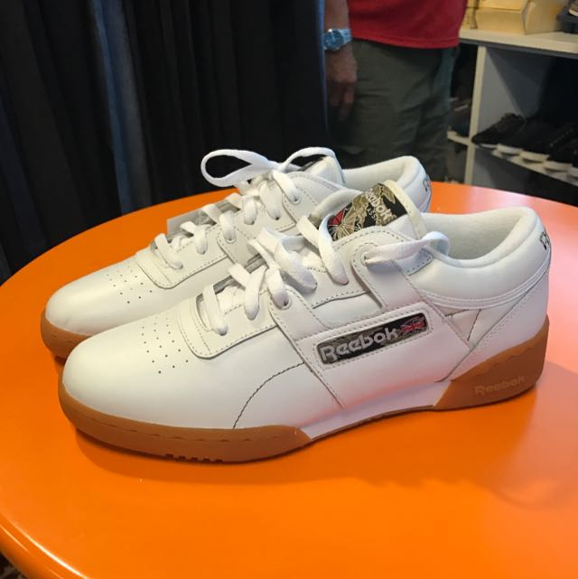 605f936ce2ec5a Reebok Men's Workout Low White Leather Sneakers With Gumsole, Men's  Fashion, Footwear on Carousell