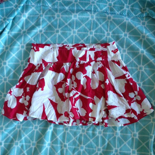 Roxy Floral Mini Skirt