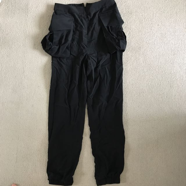 Sass & Bide Black Silk Pants Size 8