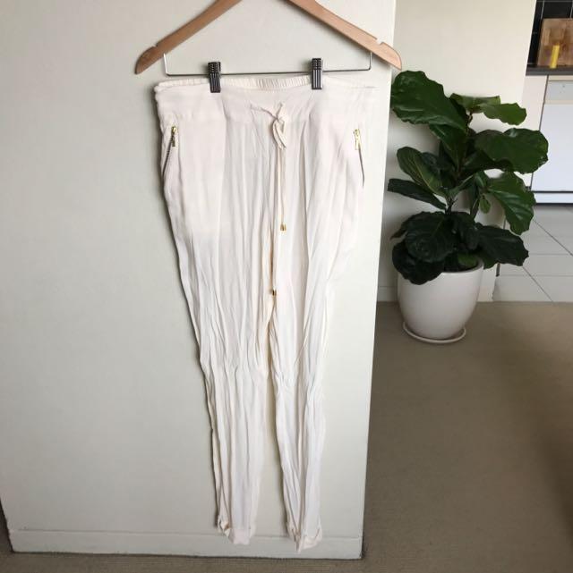 Sass & Bide Cream Pants Fits 8-10