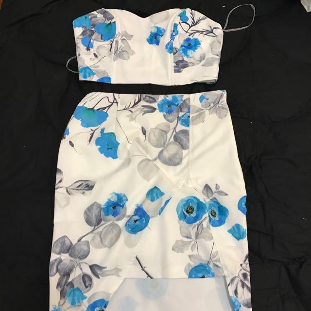 Set Crop And Skirt