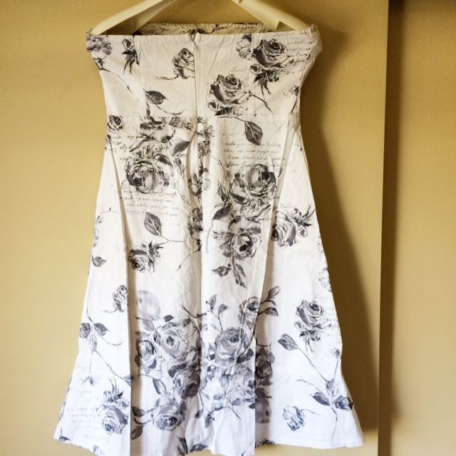 Strapless Floral Dress. Pick Up Only