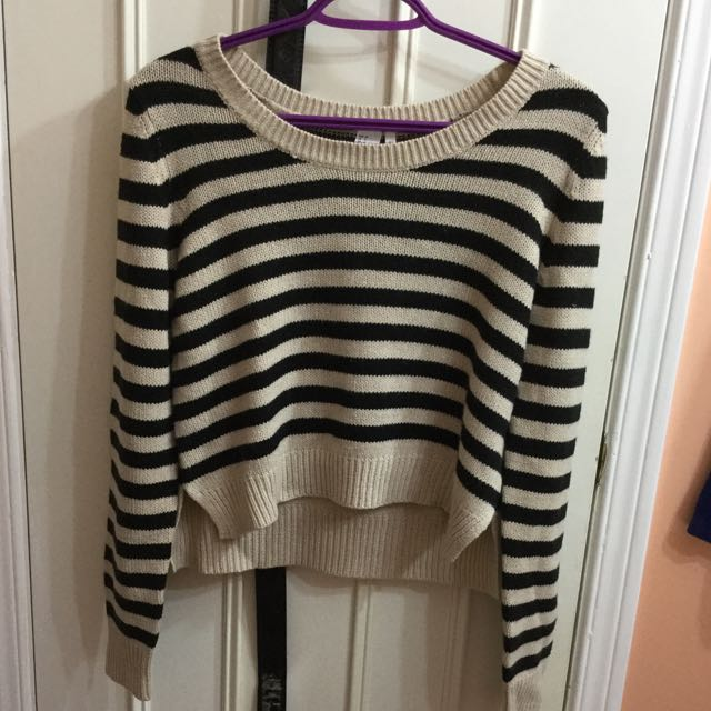 Striped Knitted Sweatshirt