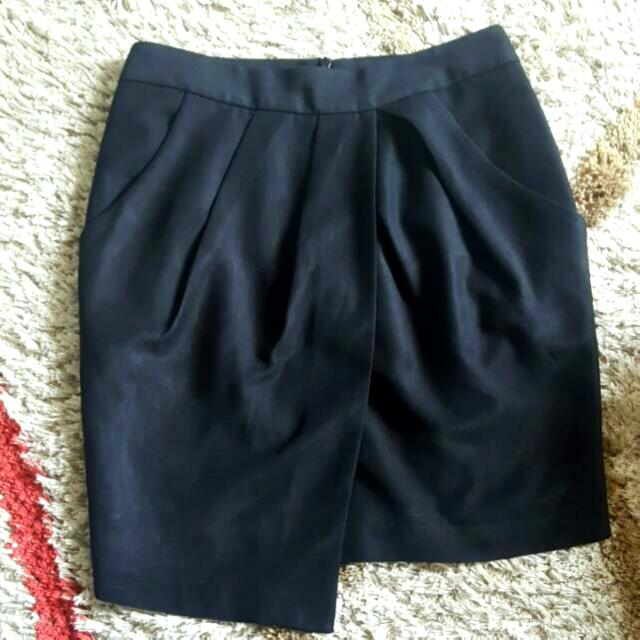 The Executive Black Mini Skirt, Size: M
