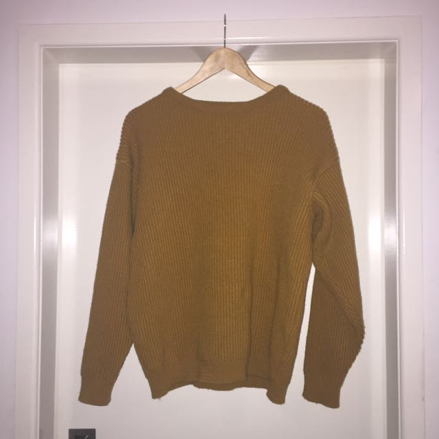 'The Pure Australia Sweater' Mustard Sweater