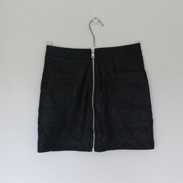 Topshop pleather skirt