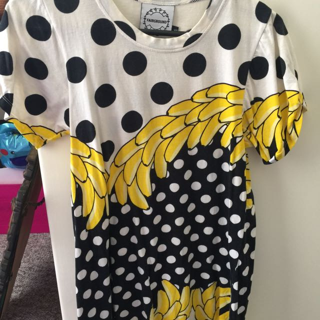 Tshirt Dress Banana Pattern