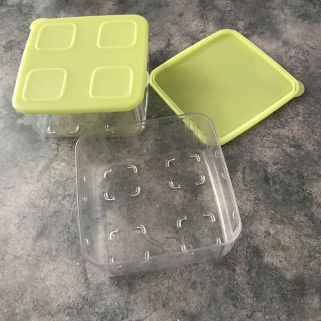 Tupperware Square Clear Mates