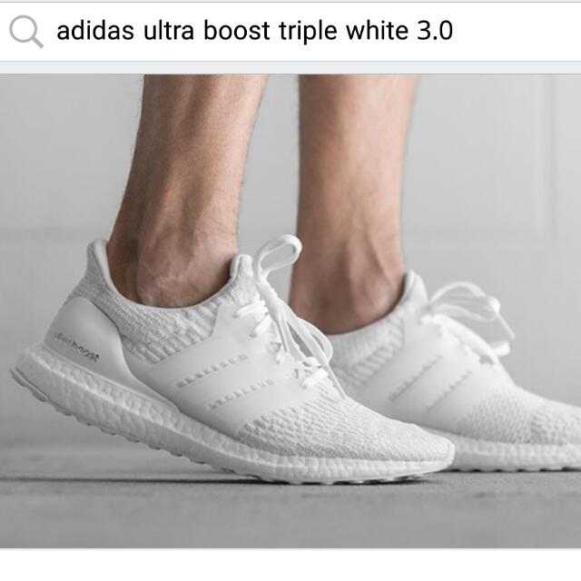 URGENT LOOKING 100% AUTHENTIC ADIDAS ULTRABOOST TRIPLE WHITE