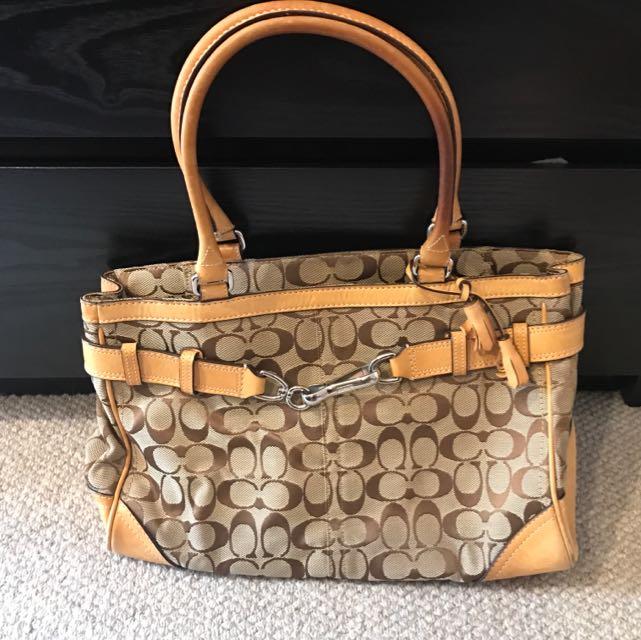 Used Genuine Coach Handbag