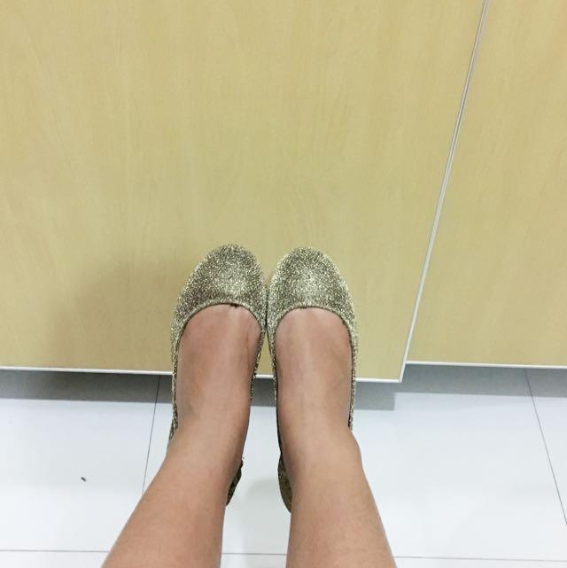 Vnc Folded Flat Shoes Size L ( Fit Size 39-40)