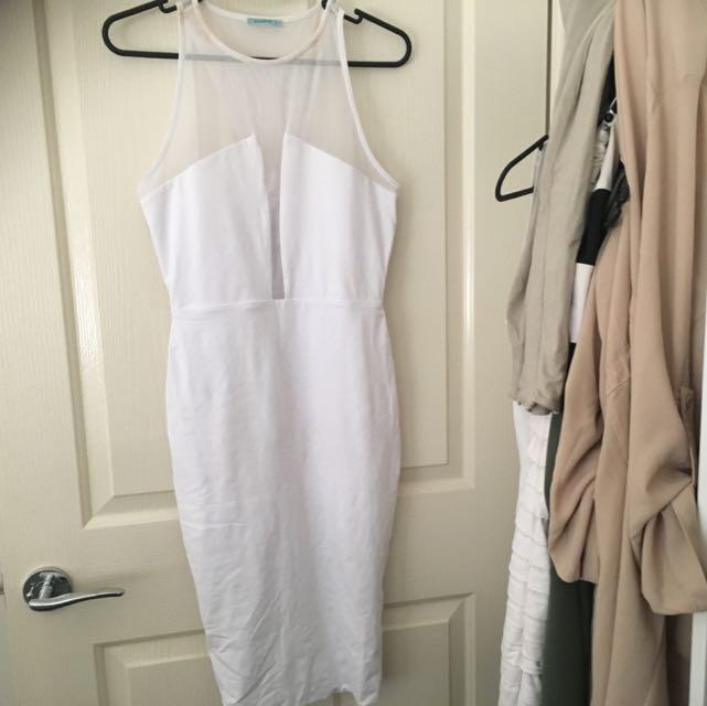 White Mesh Kookai Dress