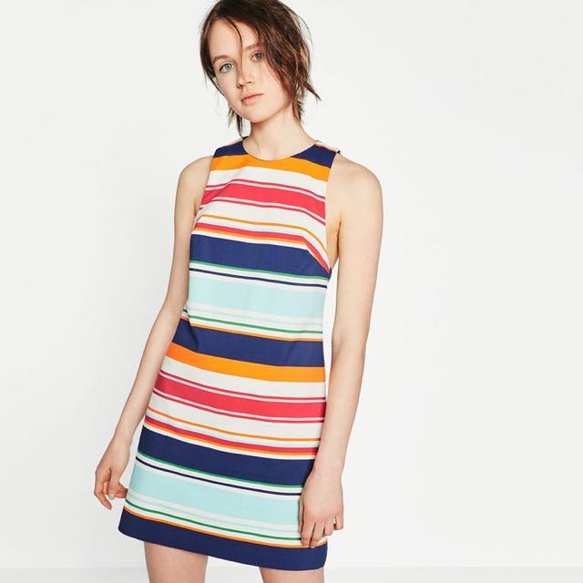 Zara Striped Dress XS