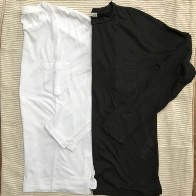 Zara T-shirt BLACK Long Sleeve Size S