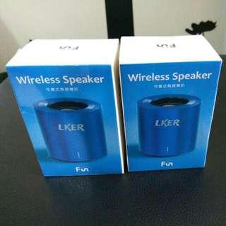 Wireless Speaker FUN時尚 可攜式無線藍芽喇叭/藍色 兩顆一起賣喔