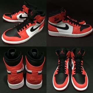 Nike Air Jordan 1 Retro High 黑 橘 全新真品