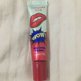 Lipstick Lip Tattoo Monomola - Cherry Red