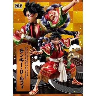 POP 魯夫 歌舞伎 代理全新 運輸盒也未拆   清倉 海賊王 航海王