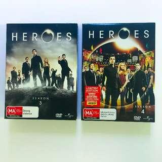 Heroes seasons 3 & 4 DVD sets