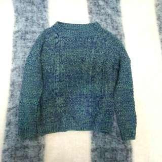 混色 針織毛衣