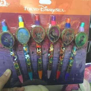 MZ::東京海洋迪士尼15週年萬聖節限定壞人原子筆