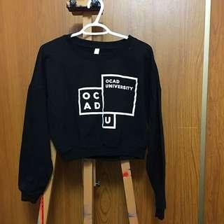 Black OCAD U Crop Sweater