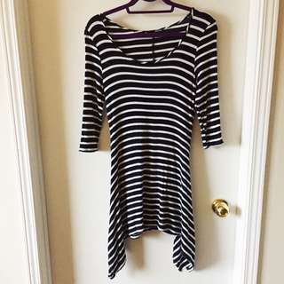 Cute Striped Long Top/Dress