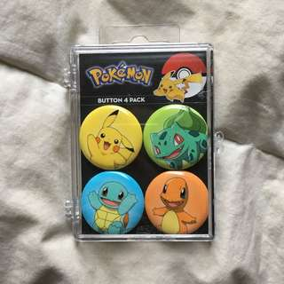 Pokémon Pin 4 Pack