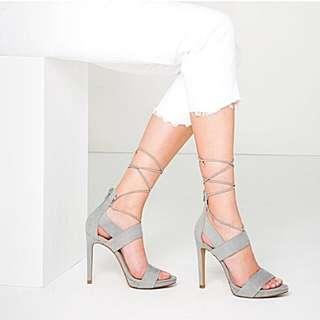 ZARA Grey Suede Heels
