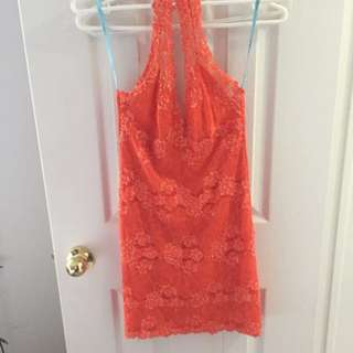 Marciano Orange Tight Dress Xs