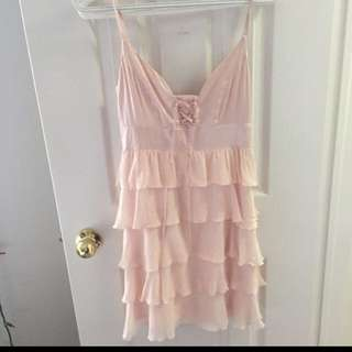 Marciano Pink Frill Dress Xs