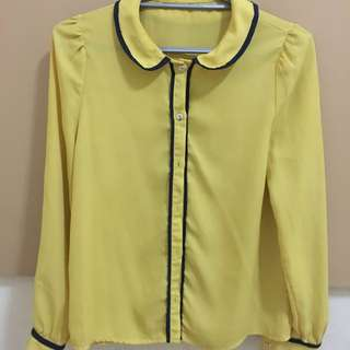 Yellow Long-sleeves For Office Use