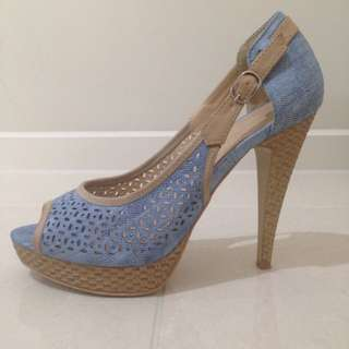 Franco Banetti Denim Stiletto Pumps S37