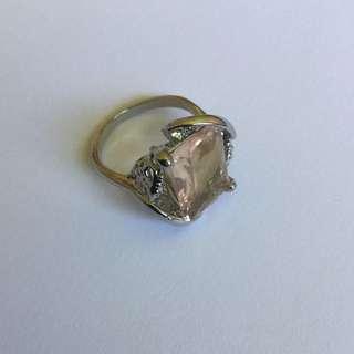 18 Karat White Gold Plated Ring