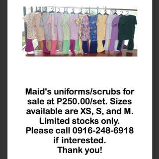 Maid's uniforms
