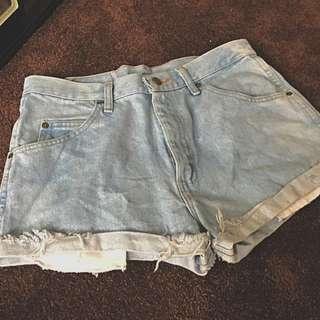High Waisted Tumblr Wrangler Shorts