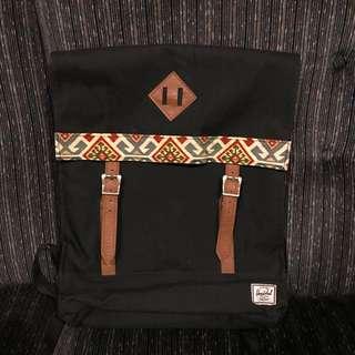 Herschel Survey Backpack: Black & Tribal Print